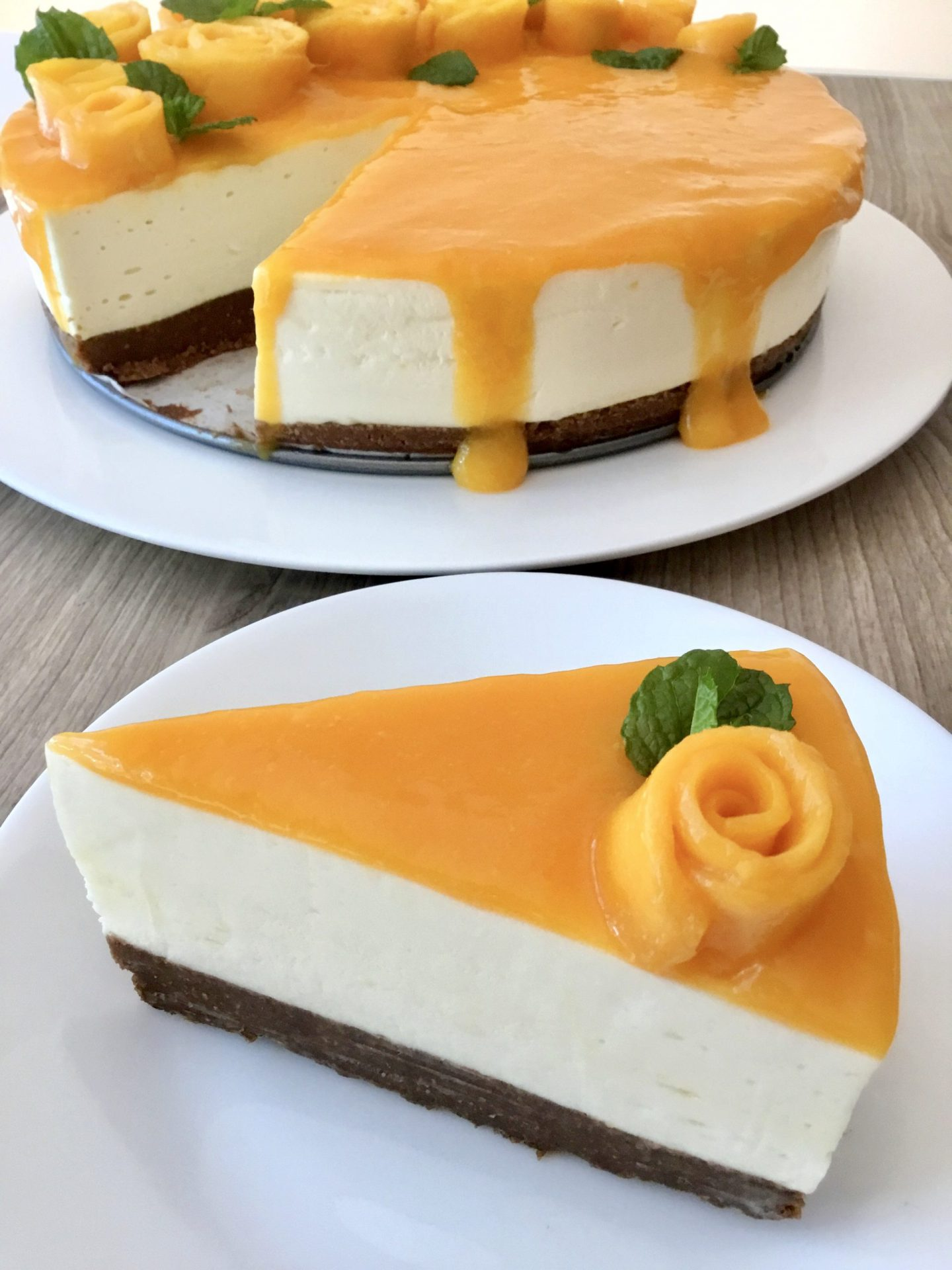 Mango cheesecake 3
