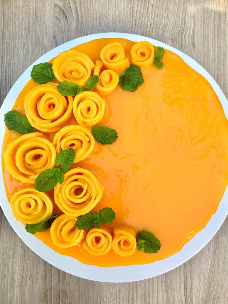 Mango cheesecake 4