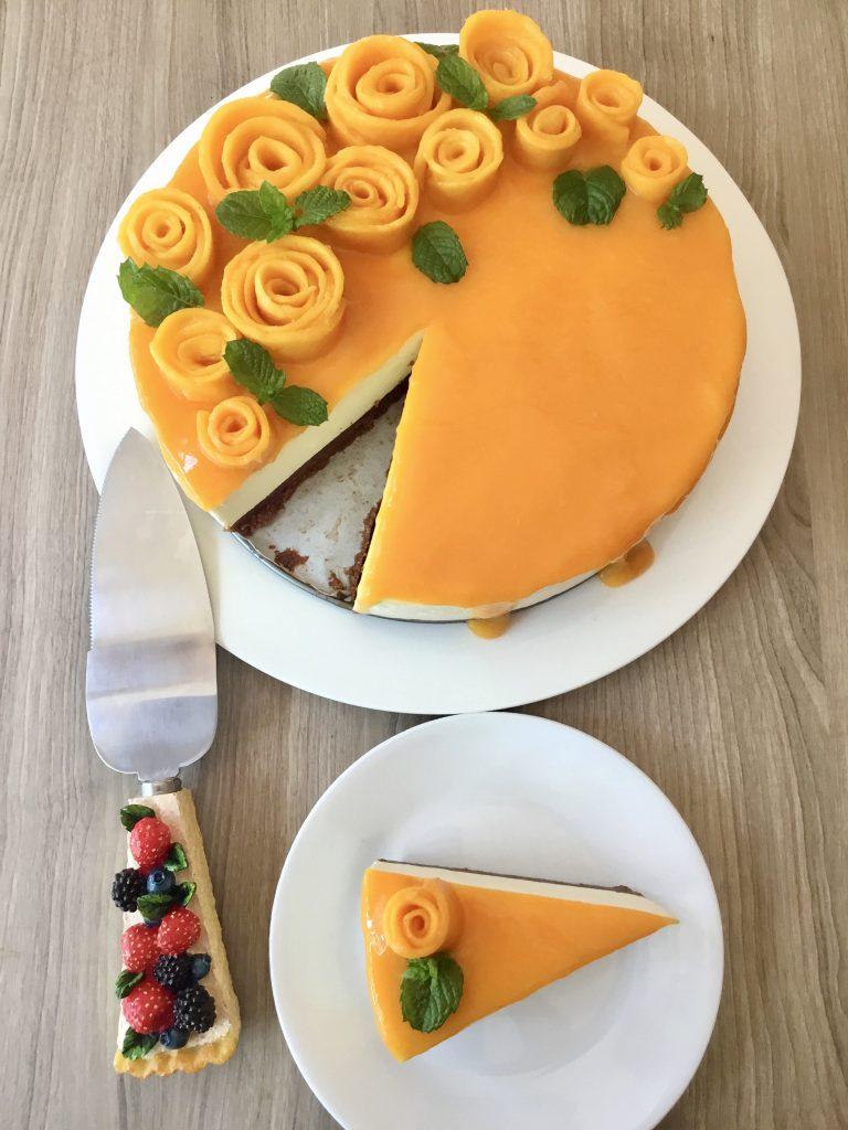 Mango cheesecake 6