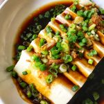 Steamed Tofu with Ginger-Soy Sauce 4