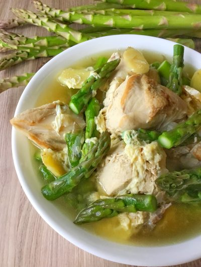 Chicken in Asparagus-Ginger Soup